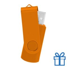 USB stick simpel 8GB oranje bedrukken