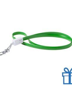 USB type-c lanyard karabijnhaak groen bedrukken