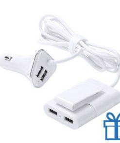 USB wand oplader 2 voor en 2 achter poorten 3100 mAh bedrukken