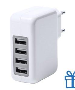 USB wand oplader 4 poorten 3100 mAh bedrukken