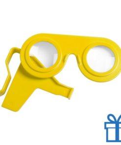 Virtual reality bril goedkoop geel bedrukken