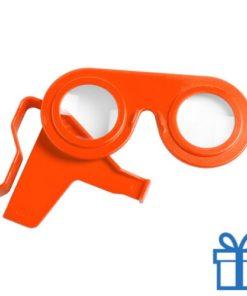 Virtual reality bril goedkoop oranje bedrukken
