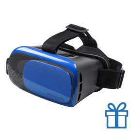 Virtual reality headset verstelbaar blauw bedrukken