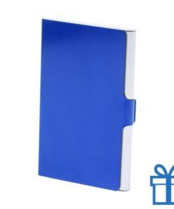 Visitekaarthouder aluminium blauw bedrukken