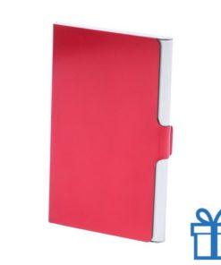 Visitekaarthouder aluminium rood bedrukken