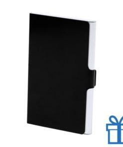Visitekaarthouder aluminium zwart bedrukken