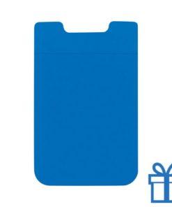 Visitekaarthouder multifunctioneel zuignap blauw bedrukken