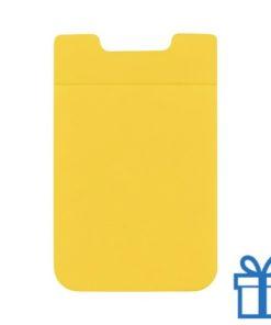 Visitekaarthouder multifunctioneel zuignap geel bedrukken