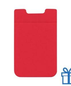 Visitekaarthouder multifunctioneel zuignap rood bedrukken