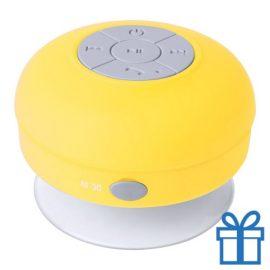 Waterdichte bluetooth speaker geel bedrukken