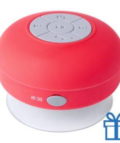 Waterdichte bluetooth speaker rood bedrukken