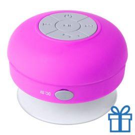 Waterdichte bluetooth speaker roze bedrukken