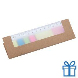 Zelfklevend notitieblok papieren cover naturel bedrukken