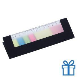 Zelfklevend notitieblok papieren cover zwart bedrukken