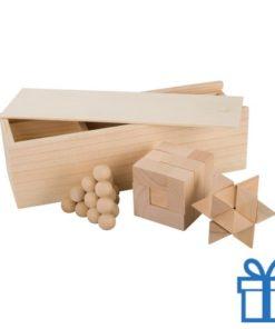 3-delige puzzel hout bedrukken
