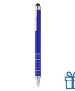 Alu met stylus balpen blauw bedrukken