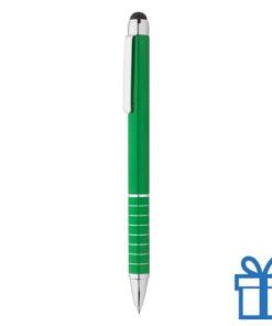 Alu met stylus balpen groen bedrukken
