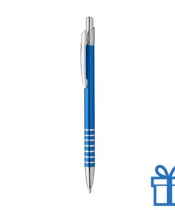 Alu pen ringen grip blauw