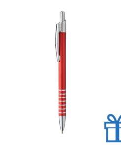Alu pen ringen grip rood