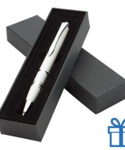 Aluminium balpen in geschenkdoosje wit