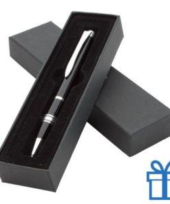 Aluminium balpen in geschenkdoosje zwart