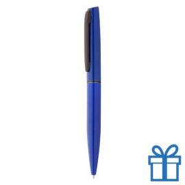Aluminium balpen in machting geschenkverpakking blauw