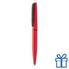 Aluminium balpen in machting geschenkverpakking rood