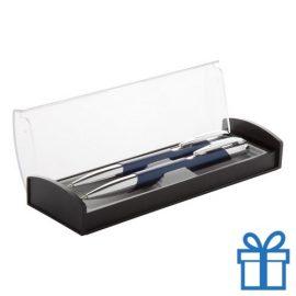 Aluminium pennenset blauw