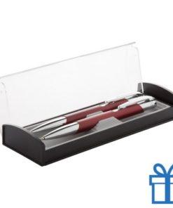 Aluminium pennenset rood