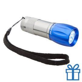 Aluminium sleutelhanger LED blauw bedrukken