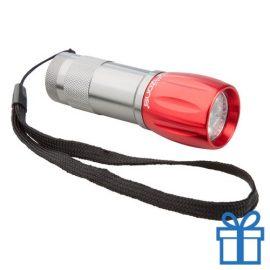 Aluminium sleutelhanger LED rood bedrukken