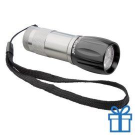 Aluminium sleutelhanger LED zwart bedrukken
