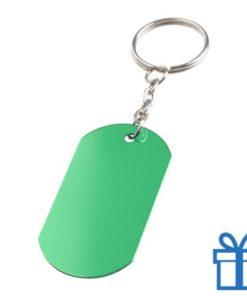 Aluminium sleutelhanger metalen ring groen bedrukken
