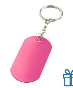 Aluminium sleutelhanger metalen ring roze bedrukken