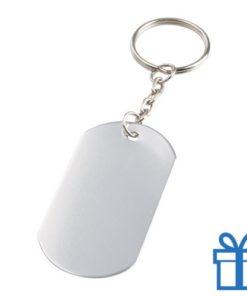 Aluminium sleutelhanger metalen ring zilver bedrukken