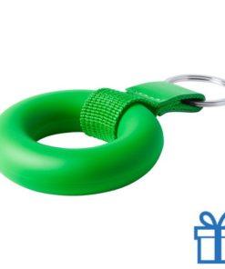 Anti stress ring sleutelhanger groen bedrukken