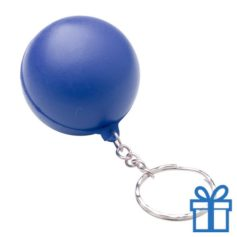 Anti stress sleutelhanger bal blauw bedrukken