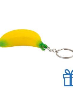 Anti stress sleutelhanger banaan bedrukken