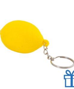 Anti stress sleutelhanger citroen bedrukken