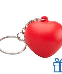 Anti stress sleutelhanger hart bedrukken