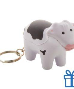 Anti stress sleutelhanger koe bedrukken