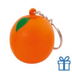 Anti stress sleutelhanger sinaasappel bedrukken