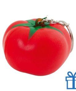 Anti stress sleutelhanger tomaat bedrukken