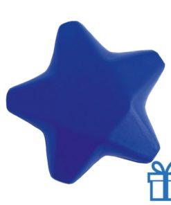 Anti stress ster blauw bedrukken