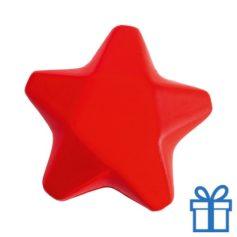 Anti stress ster rood bedrukken