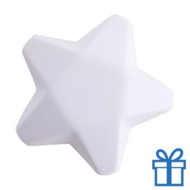 Anti stress ster wit bedrukken