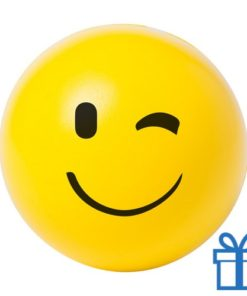 Antistress bal emoji knipoog bedrukken