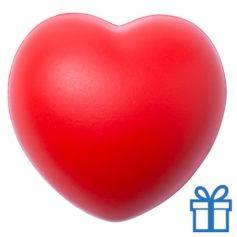 Antistress bal hart rood bedrukken