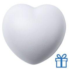 Antistress bal hart wit bedrukken