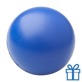 Antistress bal rond blauw bedrukken